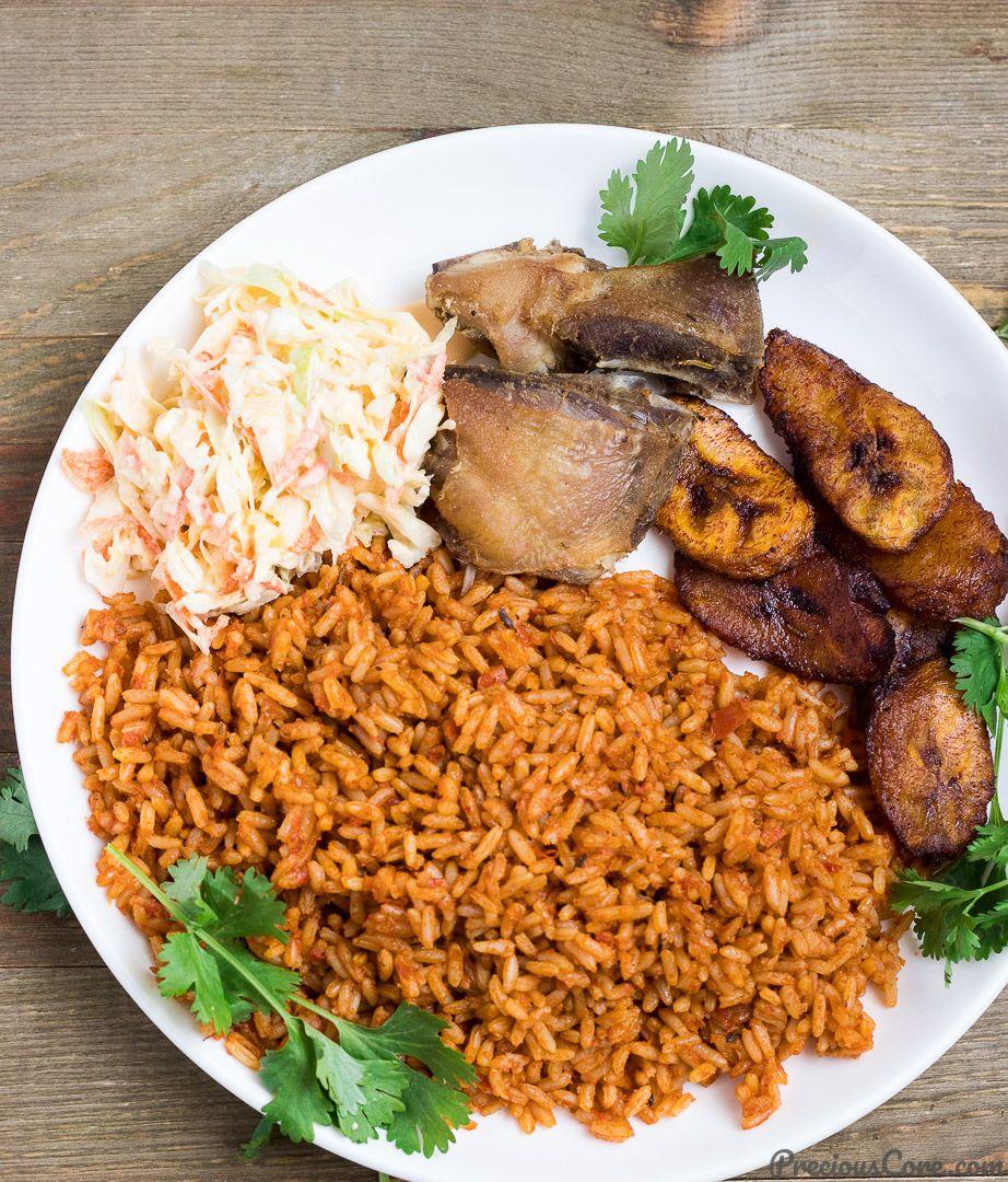 Nigerian Jollof Rice Recipe Jollof Rice Jollof Chicken And Rice Dishes