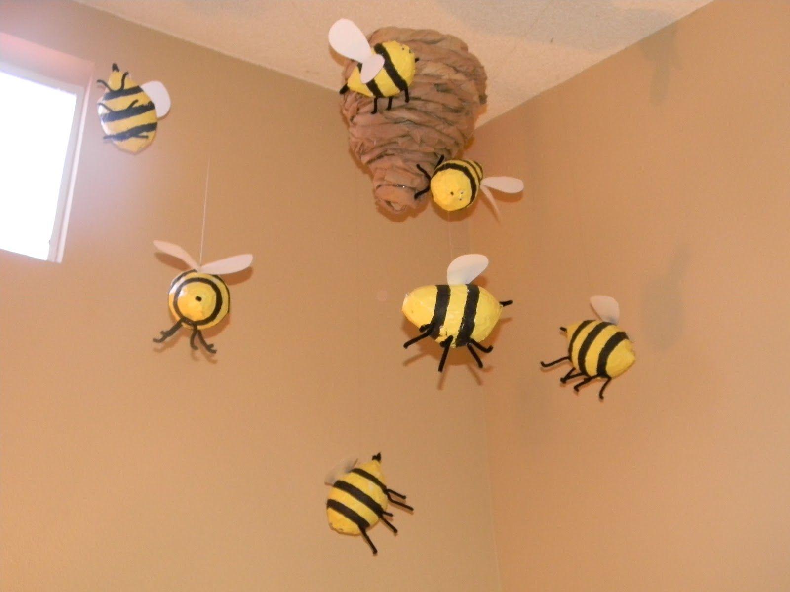 Classroom Party Ideas ~ Paper mache bee hive kid s room pinterest theme