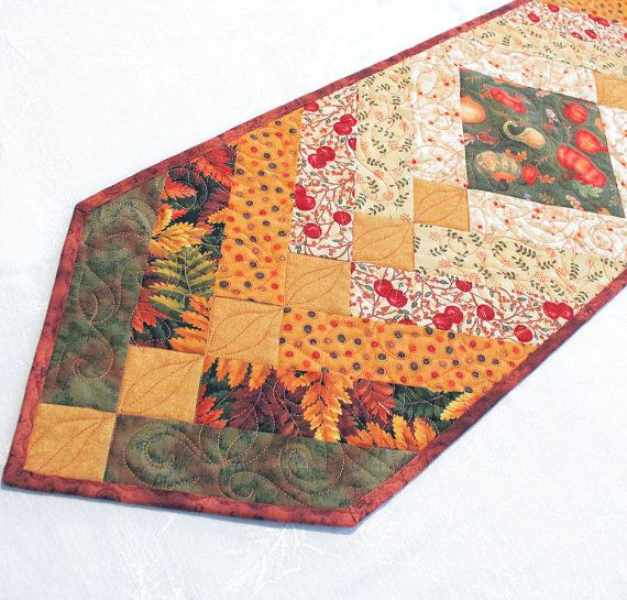 Autumn Braid Table Runner Quilt for Fall by QuiltSewPieceful, $45.00