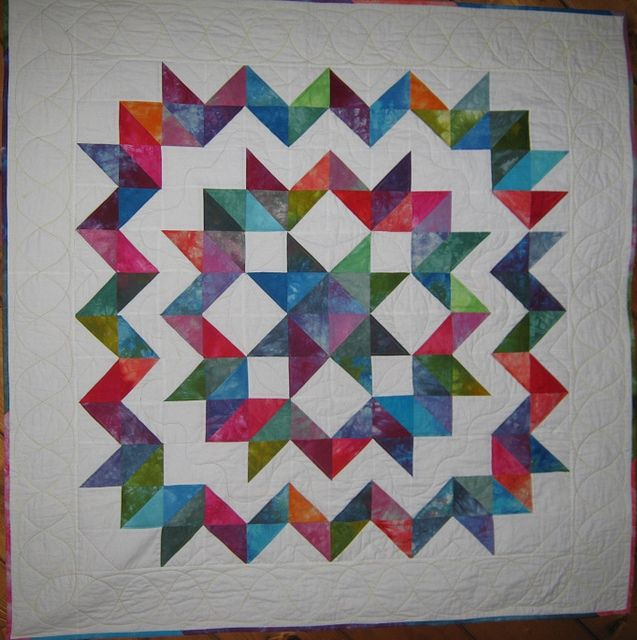 Carpenter's Wheel Quilt in Hand Dyed Fabrics | Fabrics, Star ... : hand dyed fabric for quilting - Adamdwight.com