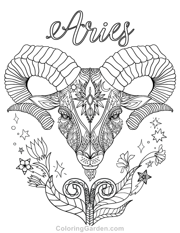 zodiac signs printable coloring pages - photo#31