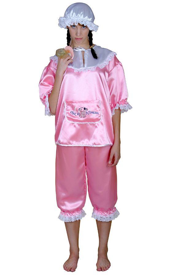 Oh Baby, Baby, Balla, Balla mit diesem Kostüm sind Sie der Knaller! Geniales Babykostüm in rosa! Ideal für Fasching, Karneval, Mottopartys uvm. Mit diesem Kostüm fallen Sie garantiert auf.  Natürlich auch hervorragend als Junggesellen/innenabschiedskostüm um den/die heiratswillige/n noch einmal richtig zu verabschieden.  Das Kostüm ist aus 100% Polyester hergestellt. Keine billige Fernostware sondern ein Qualitäsprodukt.  Oberteil: Oberarmweite ist dehnbar bis max. 54cm und mit einer weißen…