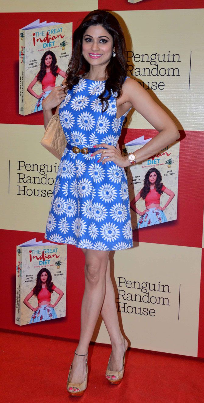 Shamita Shetty at the launch of Shilpa Shetty's book 'The Great Indian Diet'. #Bollywood #Fashion #Style #Beauty #Sexy #Hot