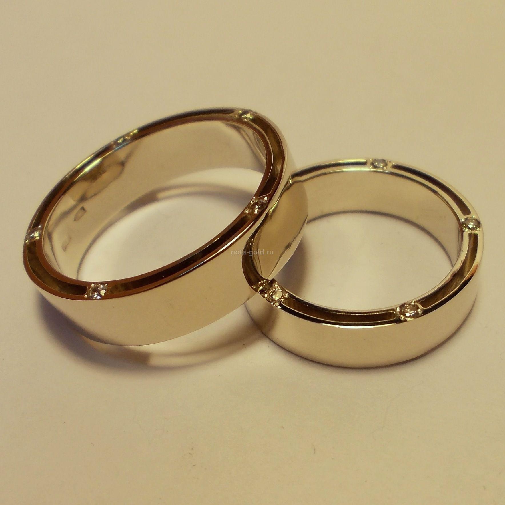 свадебные кольца широкие