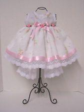 572c7d7c3 New born fancy pink   white baby dress w  headband   bootie 0-3