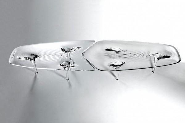 Zaha Hadid presenta la mesa Liquid Glacial Coffee Table