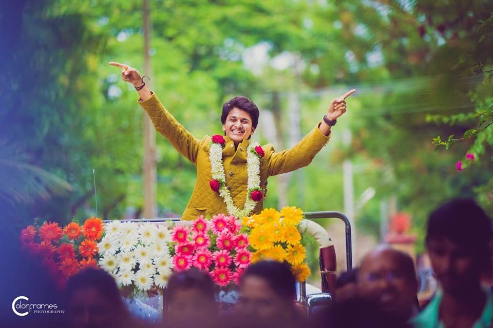 Indian wedding baraat images of flowers