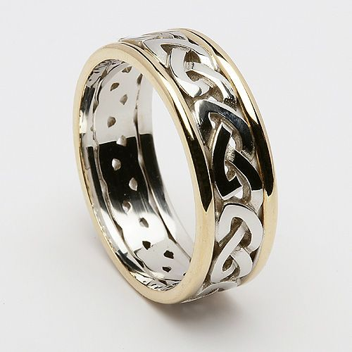Celtic Knot Wedding Bands.Celtic Knot Ring With Trim من الذكريات الجميلة Celtic Knot Ring