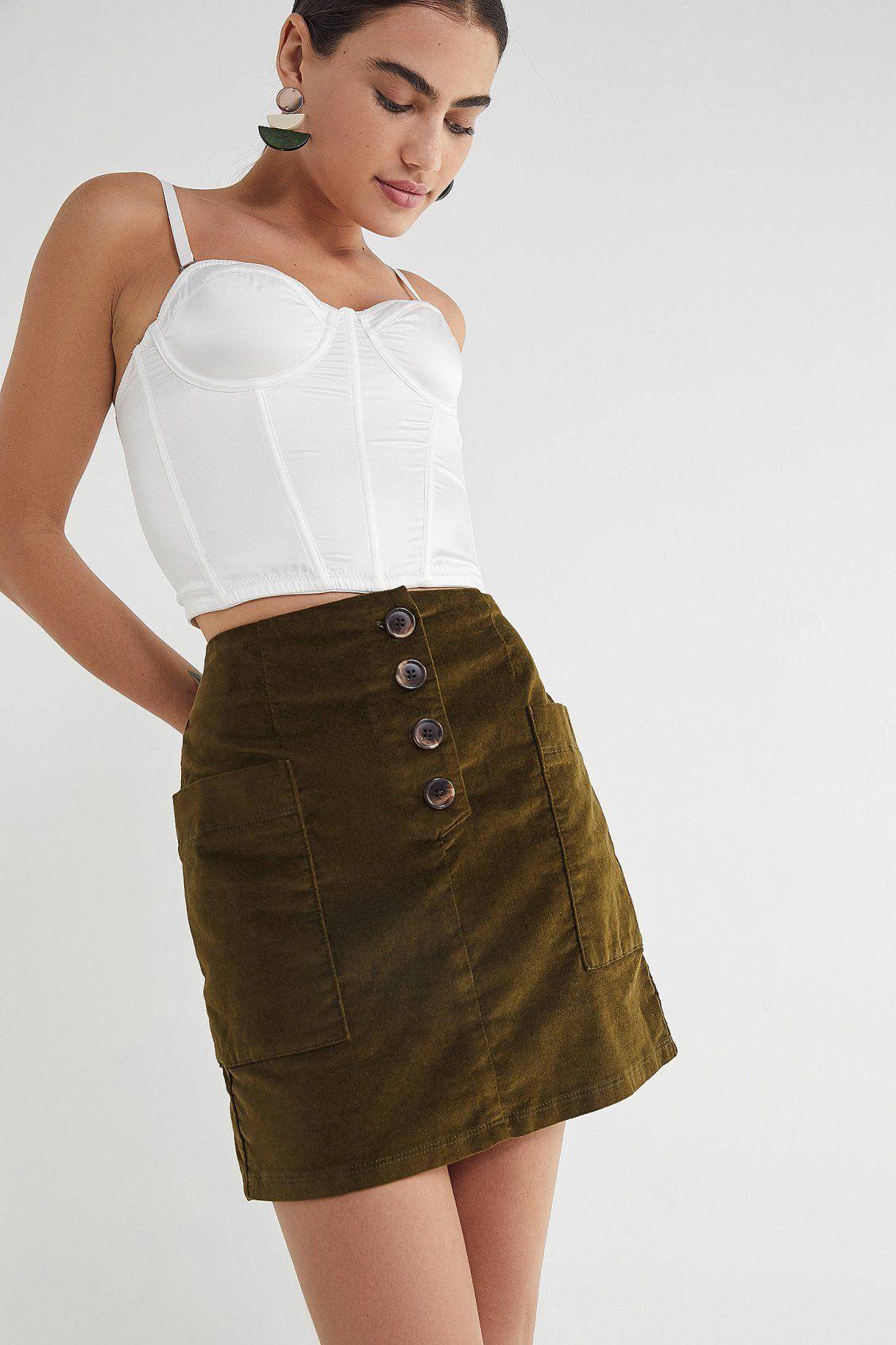 c25c3afdee BDG Kendri Uncut Corduroy Mini Skirt in 2019 | New Arrivals | Mini ...