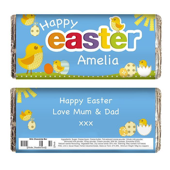 Personalised happy easter chick chocolate bar perfect as a tasty personalised happy easter chick chocolate bar perfect as a tasty easter gift for kids negle Choice Image
