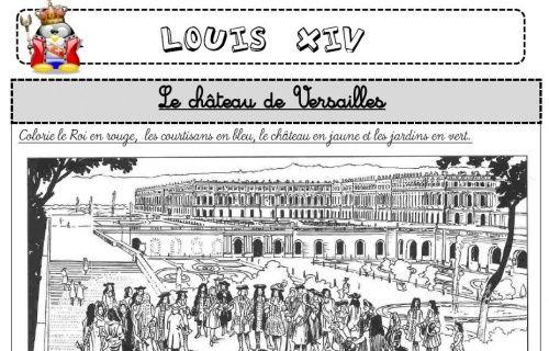 Louis Xiv Histoire Cm1 Ecole De Crevette Histoire Ce2