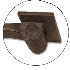 Dark Bronze Heavy Duty Driveway Gate Strap Hinge | Heavy