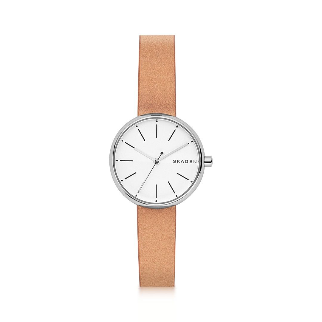 Relógio Skagen Signatur   Relógios Skagen   Brown leather watch ... e157416645