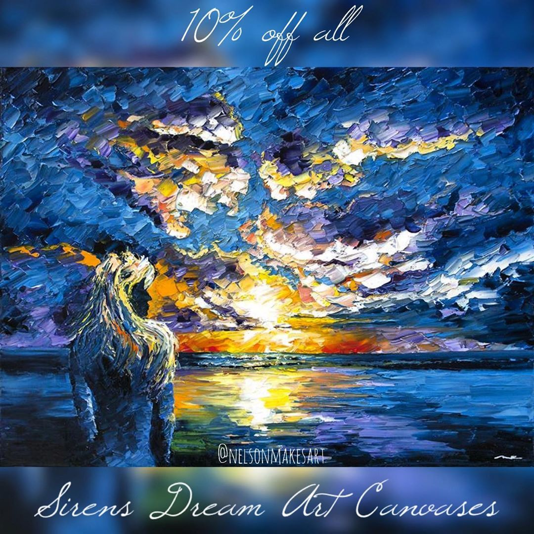 Enjoy 10% off all Siren's Dream Art Canvases this week only . ⠀⠀⠀⠀⠀⠀⠀⠀⠀ It's lik -      Enjoy 10% off all Siren's Dream Art Canvases this week only 🧜♀️🌊🏄♀️🐋🌴. ⠀⠀⠀⠀⠀⠀⠀⠀⠀ It's like Mermaid vibes for even the chilliest of winters. ⠀⠀⠀⠀⠀⠀⠀⠀⠀ Check it out at www.nelsonmakesart.com. . . . . . . . #mermaidlove #watercolor #mermaiddrawing #mermaidsofinstagram #giftsforher #fantasyartwork #littlemermaids #ariel #mermaid #colorfulartwork #oceanart #beachartwork #beachart #beachhomedecor #mermaids #