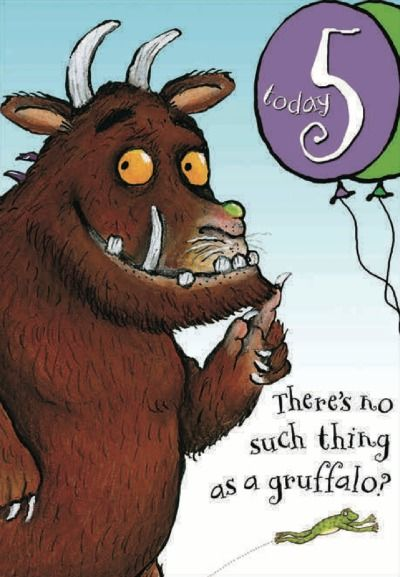 Happy 5th Birthday The Gruffalo Birthday Card From Woodmansterne