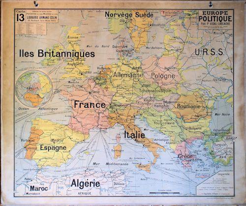 carte europe ecole