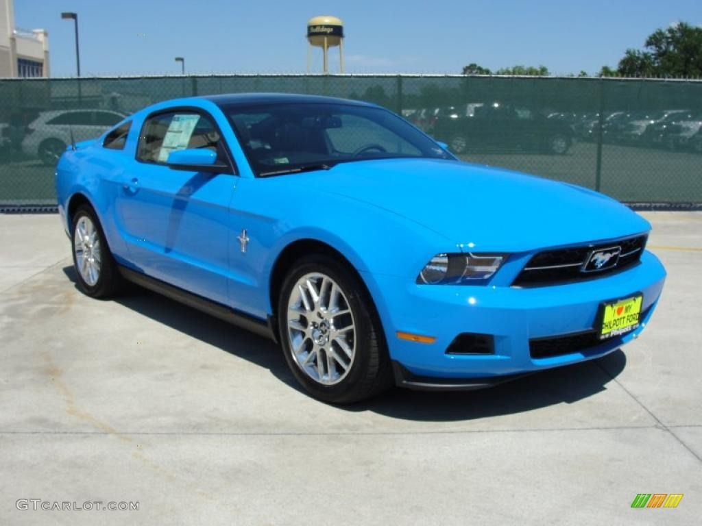 Grabber blue mustang 2012 grabber blue ford mustang v6 premium coupe 48981079 photo 2