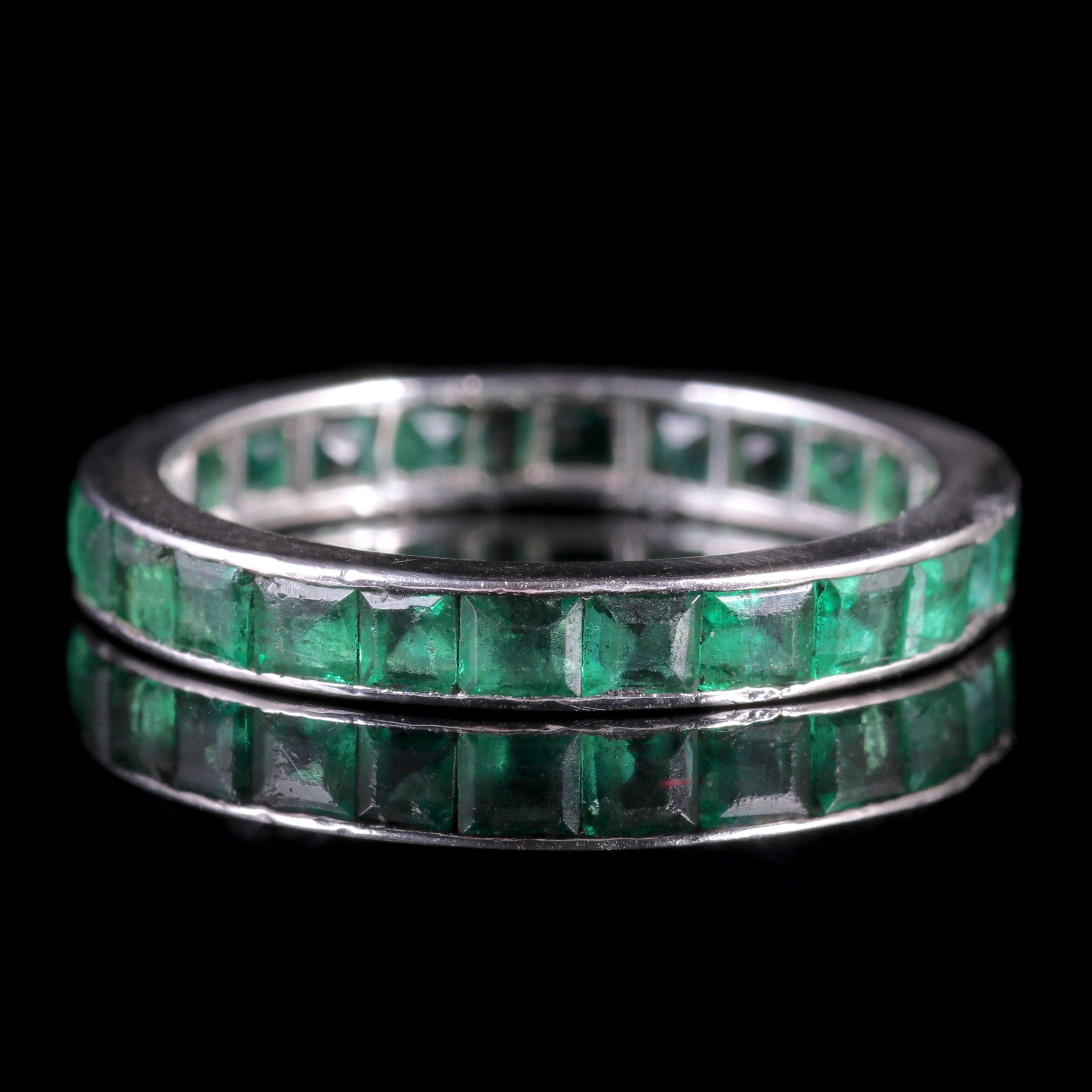Art deco full emerald eternity ring circa 1920 antique