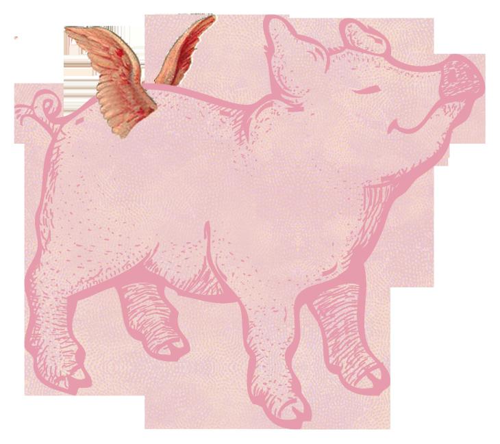 Merry Bright Christmas Pigs Garland Pig Illustration Free Printable Art Christmas Ish