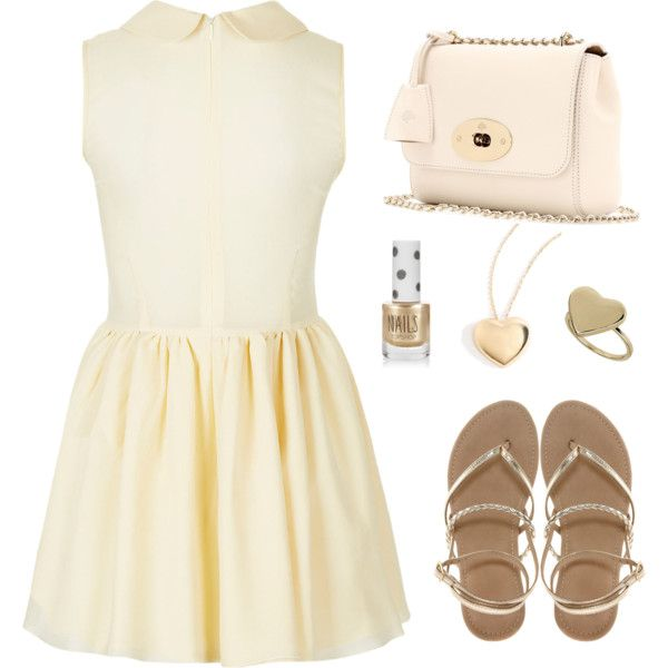 Sleeveless yellow Topshop dress, ASOS leather flats, and Mulberry bag. #topshop #asos #mulbery. Eleanor Calder.