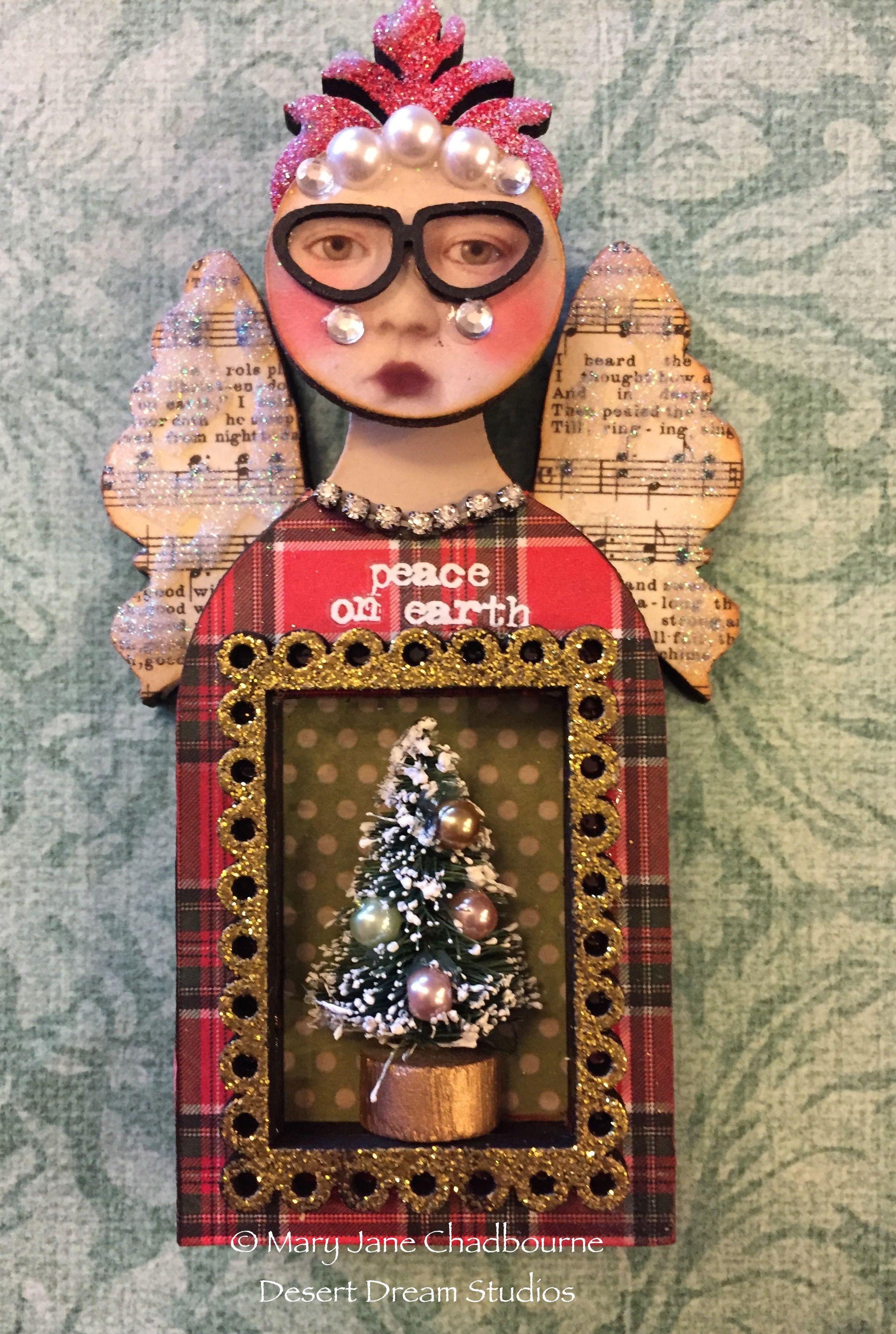 Holiday ornament by MJ Chadbourne Desert Dream Studios