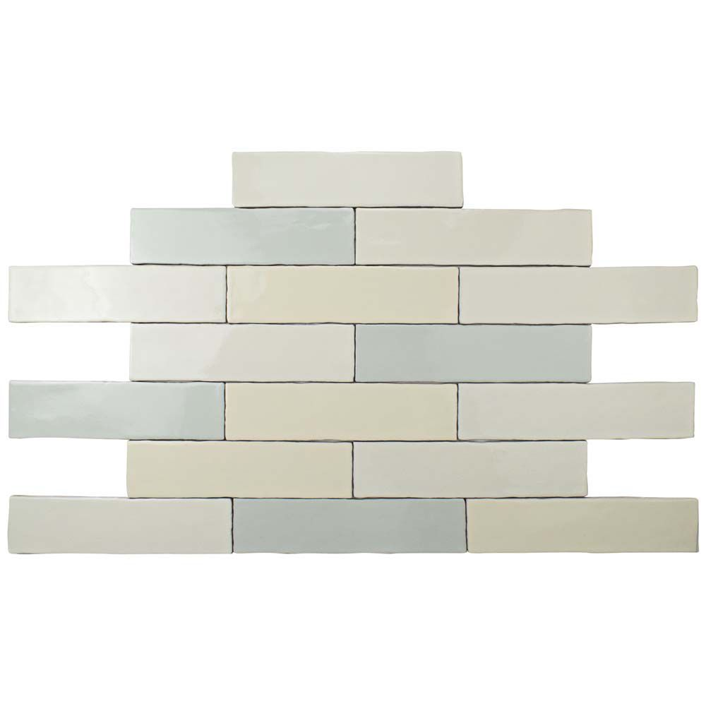 Alaska Craquelle Mix 3 Inch X 12 Inch Ceramic Wall Tile 4 Sq Ft Case Wall Tiles Ceramic Wall Tiles Tiles
