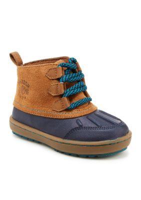 OshKosh Bgosh Navy  Brown Harrison Boots - Boy Toddler Sizes