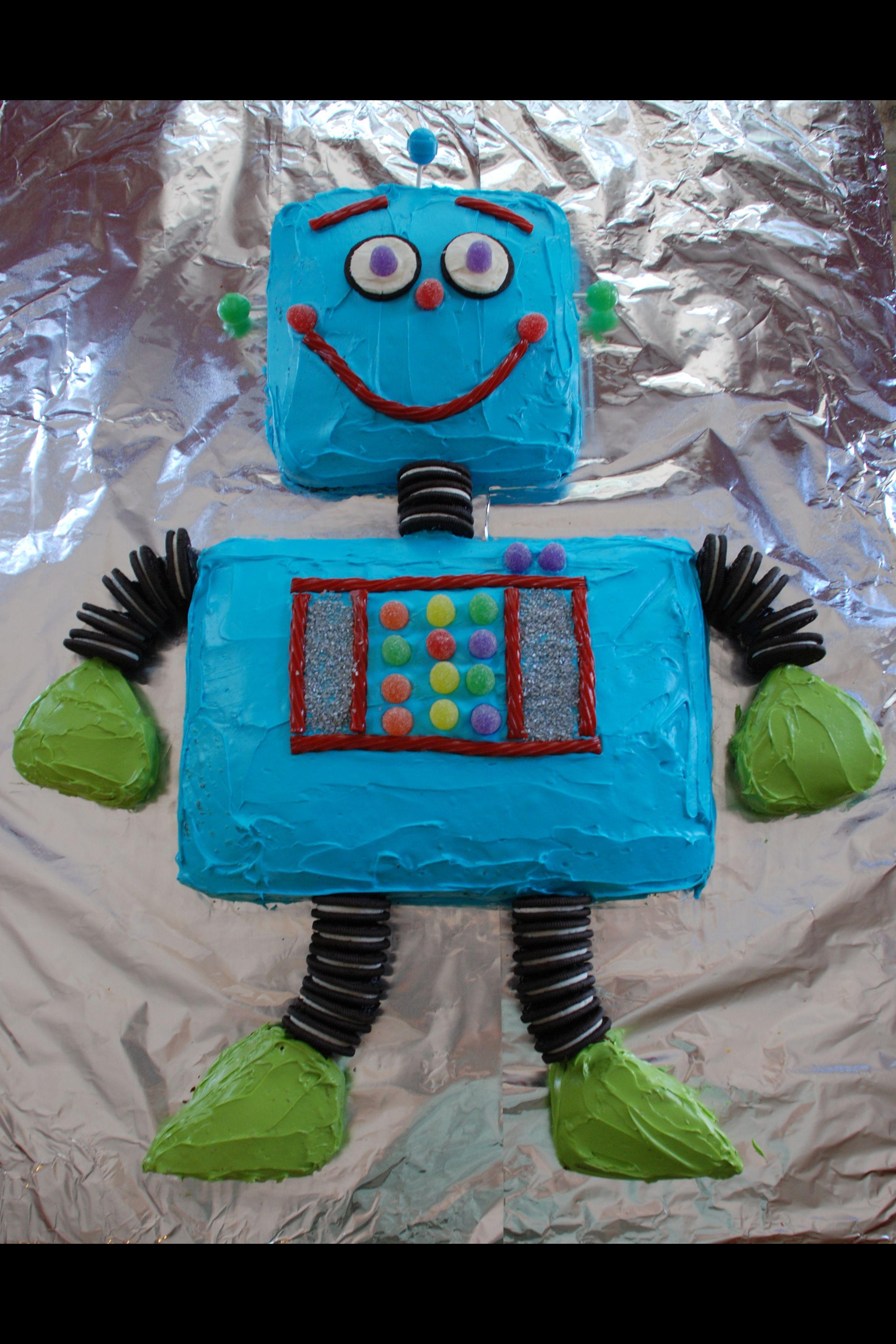 Robot birthday cake for Finn. 2011