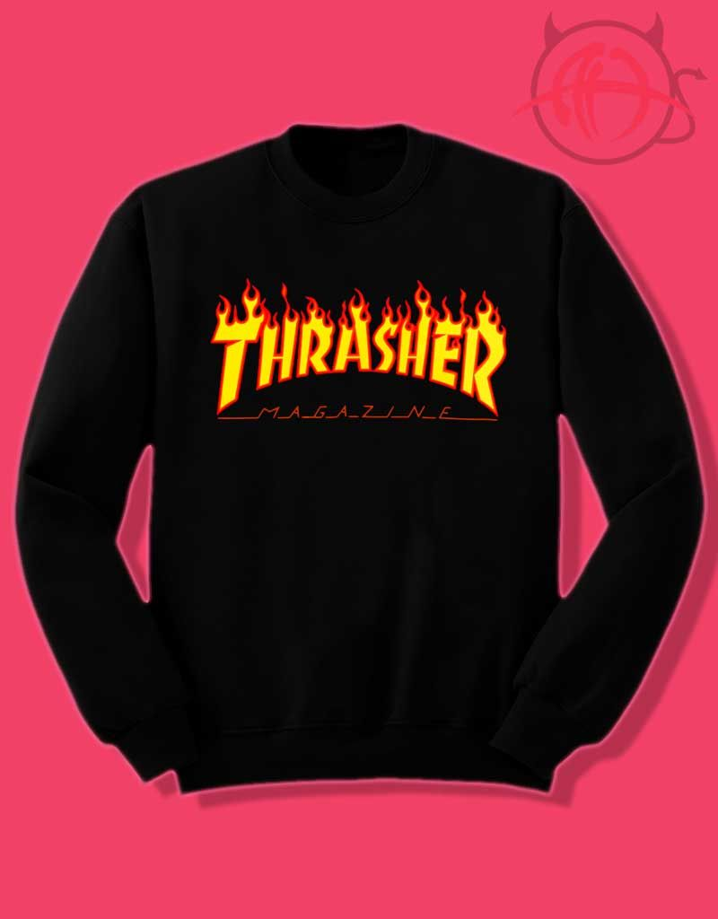 Thrasher Magazine Fire Flame Crewneck Sweatshirt Price 27 50 Sweatshirts Crew Neck Sweatshirt Sweatshirt Fashion [ 1024 x 800 Pixel ]