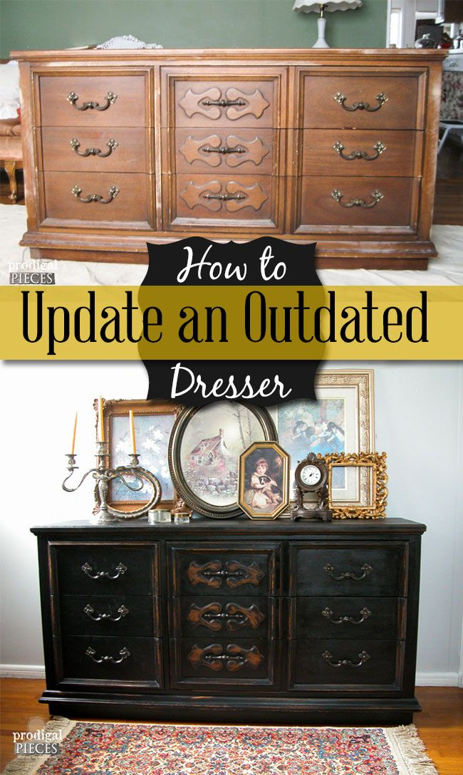 Update Furniture With These Simple Steps Dresser Paint - How to update bedroom furniture