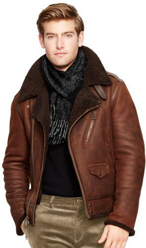 Polo Ralph Lauren Shearling Biker Jacket. Mens Shearling CoatBiker ...