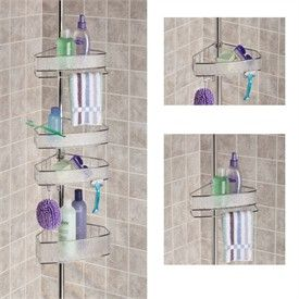 Tension Pole Corner Shower Caddy rain 4 tier tension pole shower caddyby interdesign | storage