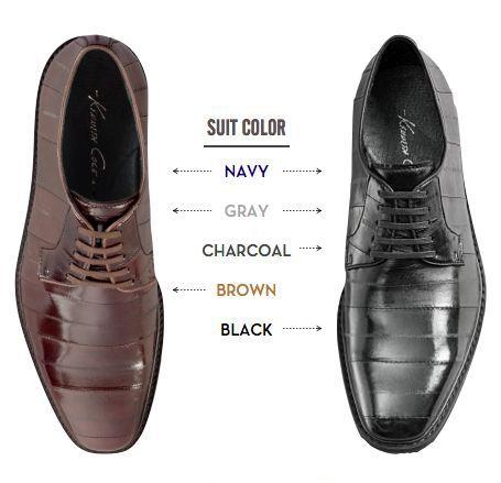 Vilken färg bör du ha på skorna till blå kostym? Och grå