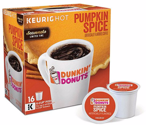 Dunkin K Cup Pod Coffee Or Hot Cocoa Product Coupon Pumpkin