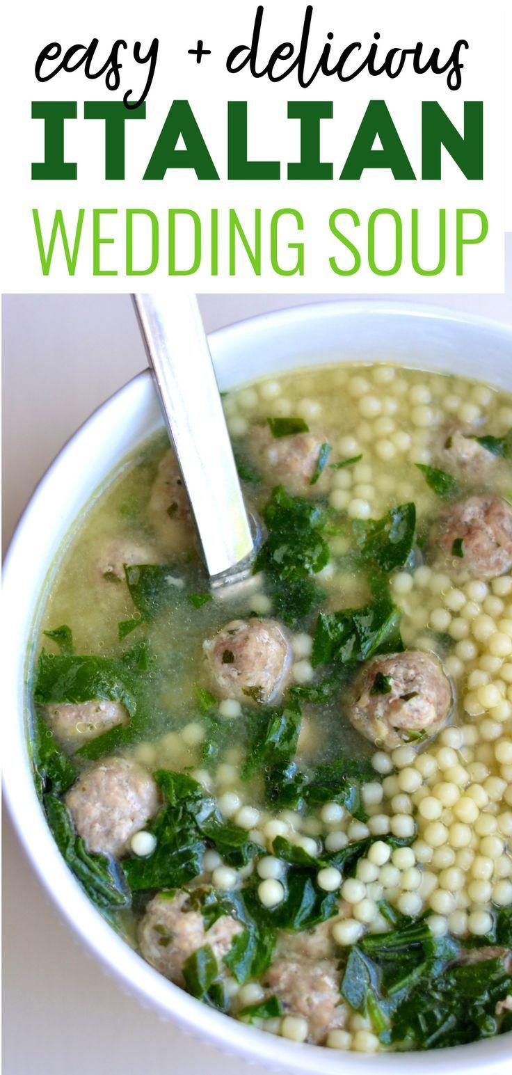 Italian wedding soup Recipe Wedding soup, Best soup