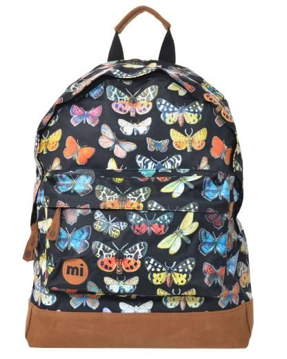 Butterfly Ruck Sack by Mi-Pac £24.99 http://www.peppermint.uk.com/mipac-butterfly-black-backpack-black.ir?cName=handbags