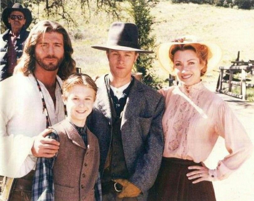 Joe Lando, Shawn Toovey, ? (son of Jane?) and Jane ...