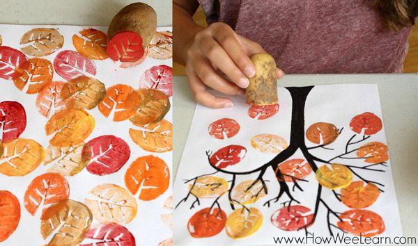 5 Manualidades Infantiles De Otono Manualidade Autumn Art