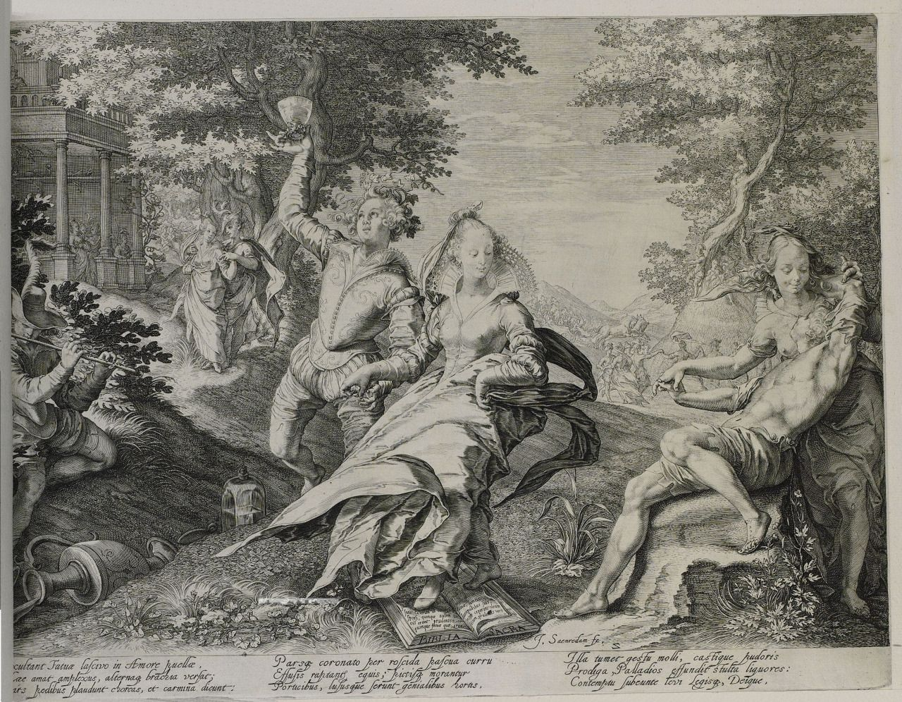 """Parable of the Wise and Foolish Virgins"" by Jan Saenredam, 1601 - 1625"