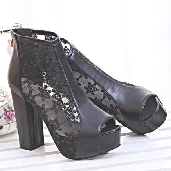 Hollow Out Open Toes High Platform Thick Heels for $45.00 #onselz #heels #laceheels #blackheels #fashinonablwfootwear #sweettemptations69 #freeshipping FREE SHIPPING WORLDWIDE  This Weeks Great deal 15% off all womans Footwear. Check out our new sexy heels for every occassion. So much to choose from and all free shipping. Share my store  name,photo etc. For the next draw for 100.00 Gift card next draw April 14 Good Luck  http://www.sweettemptations69.com