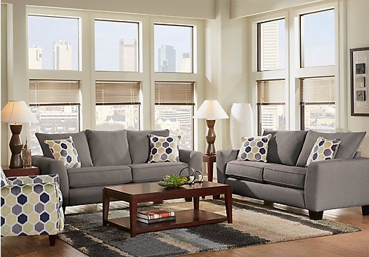 Shop For A Cindy Crawford Hadly Gray 7Pc Classic Living Room At Rooms To Go.  Find Living Room Sets That Will Look Great In Your Home And Complementu2026