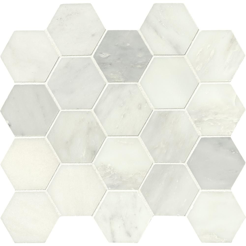 An Expert Shares The 10 Things Every White Bathroom Needs Marble Mosaic Tiles Mosaic Tiles Tiles
