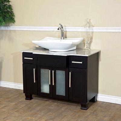 Single Sink Solid Wood Bathroom Vanity