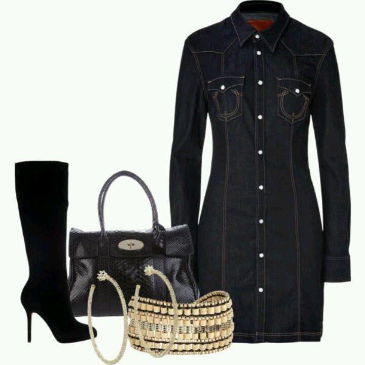 les 25 meilleures id es de la cat gorie tenues de robe de denim sur pinterest robes d 39 t en. Black Bedroom Furniture Sets. Home Design Ideas