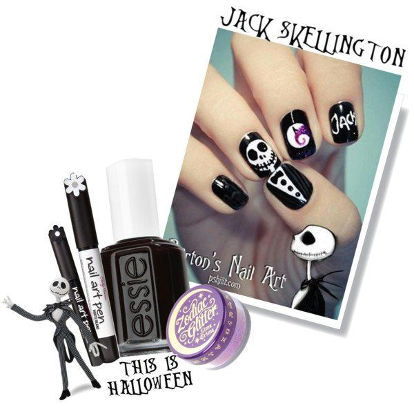 Jack Skeleton Nails | What Can Wear Every Lady | Pinterest