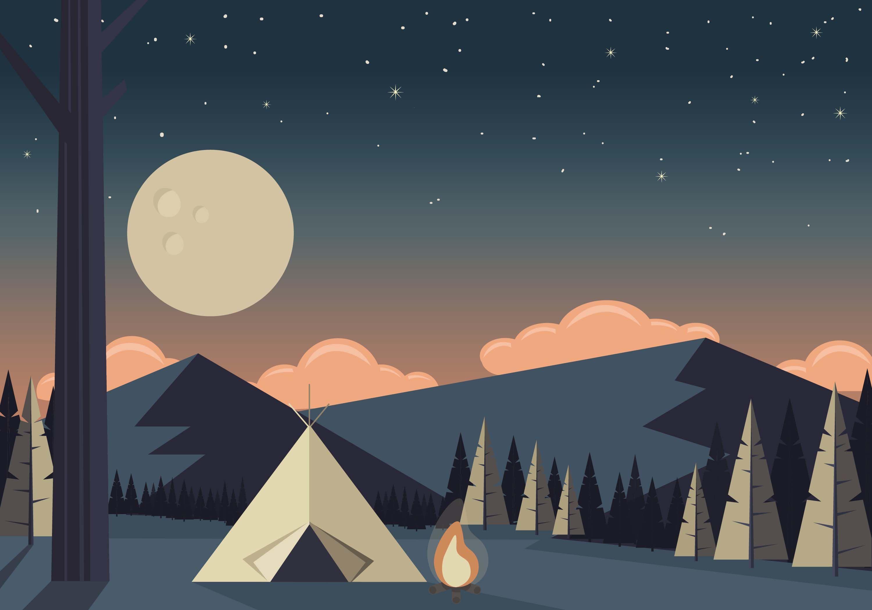 Vector Camping Landscape Illustration Choose From Thousands Of Free Vectors Clip Art Designs Vector Art Design Landscape Illustration Desktop Wallpaper Art