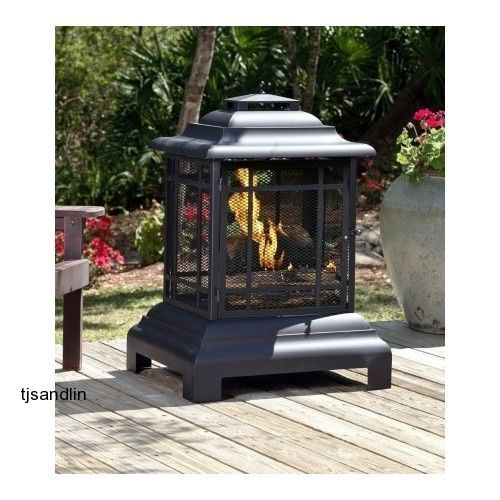 Outdoor Patio Fireplace Fire Pit Deck
