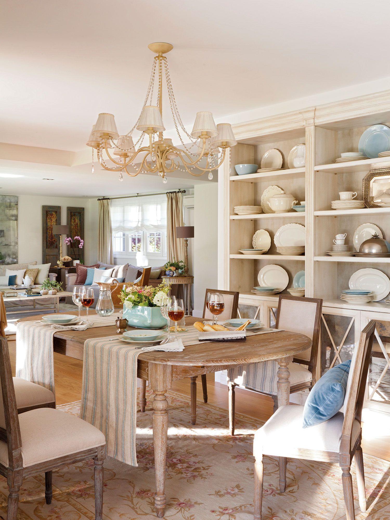 Comedor clásico con mesa ovalada y vajillero_00367717b | Pinterest ...