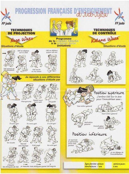 310dd07dc3c3 Progression Française judo Ceinture Blanche Jaune Ju Jitsu, Martial Arts  Techniques, Black Belt,