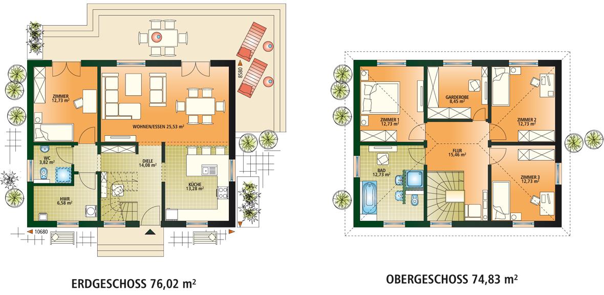 modernes haus grundriss die sch nsten einrichtungsideen. Black Bedroom Furniture Sets. Home Design Ideas